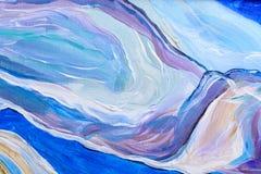 Abstrakt vattenfärgmålning, gouachemålning på pappers- textur Fotografering för Bildbyråer