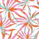Abstrakt vattenfärgmodell för vektor med palmblad Royaltyfri Fotografi