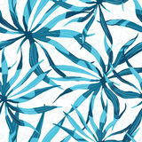 Abstrakt vattenfärgmodell för vektor med palmblad Royaltyfri Foto
