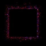 Abstrakt vattenfärgram på svart bakgrund Arkivbild