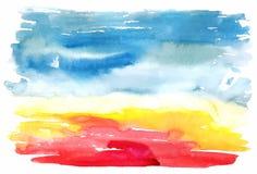 Abstrakt vattenfärgvektorbakgrund Royaltyfri Foto