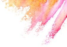 Abstrakt vattenfärgkonst räcker målar Arkivbild