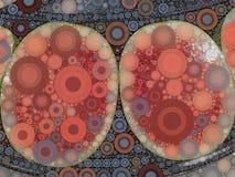 Abstrakt vattenmelonmosaik Arkivfoto