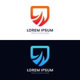 Abstrakt vecto för symbol för logo för företag för tecken för skyddssäkerhetssköld Royaltyfri Fotografi
