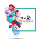 Abstrakt vektor för bakgrund för design för polygonblommacolorfull Royaltyfri Fotografi