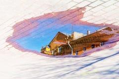 abstrakt vektor för bakgrundscityscapeillustration Arkivbilder