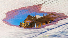 abstrakt vektor för bakgrundscityscapeillustration Arkivfoto