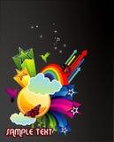 abstrakt vektor för färgillustration Arkivfoto