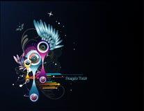 abstrakt vektor för färgillustration Royaltyfria Bilder
