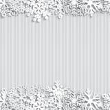 abstrakt vektor för snowflakes för bakgrundsjulillustration Royaltyfri Fotografi