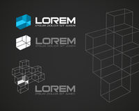 Abstrakt vektor Logo Design Template Arkivbild