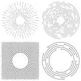 Abstrakt vektorbakgrund av koncentriska cirklar Crcular linjer royaltyfri illustrationer