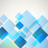 Abstrakt vektorbakgrund av olika färgfyrkanter vektor illustrationer