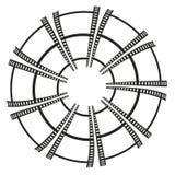 Abstrakt vektorbakgrund från en film Royaltyfri Illustrationer