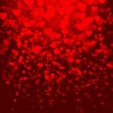 Abstrakt vektorbakgrund med hjärtor Royaltyfri Foto