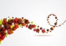 Abstrakt vektorbakgrund med klipska leafs. Arkivfoton