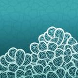 Abstrakt vektorblåttmodell med vågor, vågtemadesign Arkivfoton