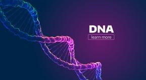 Abstrakt vektorDNAstruktur Bakgrund för medicinsk vetenskap royaltyfri illustrationer