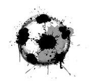 Abstrakt vektorillustration av fotboll- eller fotbollbollen med färgstänk Royaltyfria Bilder