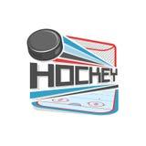 Abstrakt vektorillustration för logo av ishockey Royaltyfri Bild