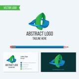 Abstrakt vektorlogo och mall för affärskort Arkivfoto