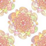 Abstrakt vektormodell som göras av färgrika mandalas stock illustrationer
