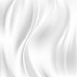 Abstrakt vektortextur, vitt silke Royaltyfri Bild