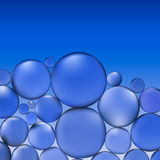 Abstrakt vektorvatten med bubblor Blåttbakgrund mönstrar Royaltyfri Fotografi