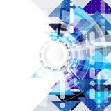 Abstrakt vetenskaplig framtida teknologibakgrund Geometripolygon Royaltyfria Bilder