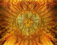 Abstrakt vibrerande orange guld- textur, bakgrund Royaltyfria Bilder