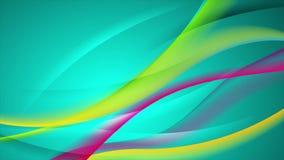 Abstrakt vibrerande skinande vågvideoanimering vektor illustrationer