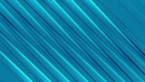 Abstrakt video animering för blåa glansiga diagonala band stock illustrationer