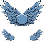 abstrakt vingar royaltyfri illustrationer