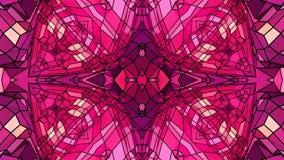 Abstrakt vinkande polygonal rött violett raster 3D eller ingrepp av att pulserar geometriska objekt Bruk som abstrakt cyberspace stock illustrationer