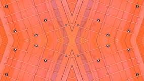 Abstrakt vinkande polygonal raster 3D eller ingrepp av att pulserar geometriska objekt Bruk som abstrakt cyberspace geometriskt arkivfilmer