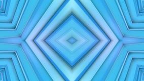 Abstrakt vinkande polygonal raster 3D eller ingrepp av att pulserar geometriska objekt Bruk som abstrakt cyberspace geometriskt vektor illustrationer