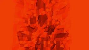 Abstrakt vinkande röd låg poly yttersida som geometriskt ingrepp i stilfull låg poly design Polygonal mosaikbakgrund med vektor illustrationer