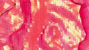 Abstrakt vinkande röd låg poly yttersida som geometriskt raster i stilfull låg poly design Polygonal mosaikbakgrund med vektor illustrationer