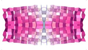 Abstrakt vinkande rött blått polygonal raster 3D eller ingrepp av att pulserar geometriska objekt Bruk som abstrakt cyberspace ge vektor illustrationer