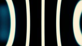 Abstrakt vinkelformig animering av dynamisk sammansättning från paneler och linjer Pulserar linjer och yttersidor är synliga arkivfilmer