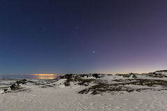 abstrakt vinter för fractalbildnatt Fotografering för Bildbyråer