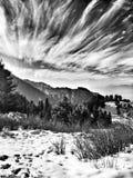 abstrakt vinter för fractalbildnatt Arkivbilder