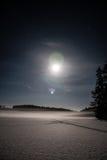 abstrakt vinter för fractalbildnatt arkivbild