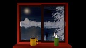 abstrakt vinter för fractalbildnatt arkivfilmer