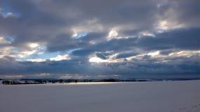 abstrakt vinter för fractalbildsky Royaltyfri Bild