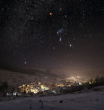 abstrakt vinter för fractalbildnatt Royaltyfria Foton