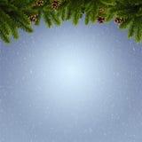 Abstrakt vinter och Xmas-bakgrunder Arkivbilder