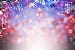 Abstrakt vinterbakgrund med defocused ljus för bokeh Arkivbild