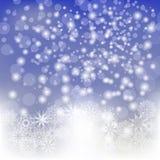 Abstrakt vintersnöbakgrund Arkivfoton