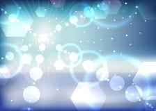 Abstrakt vintersunsignalljus Royaltyfri Fotografi